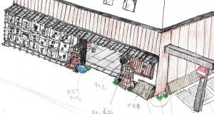 イメージ図【外観(平野町側)】
